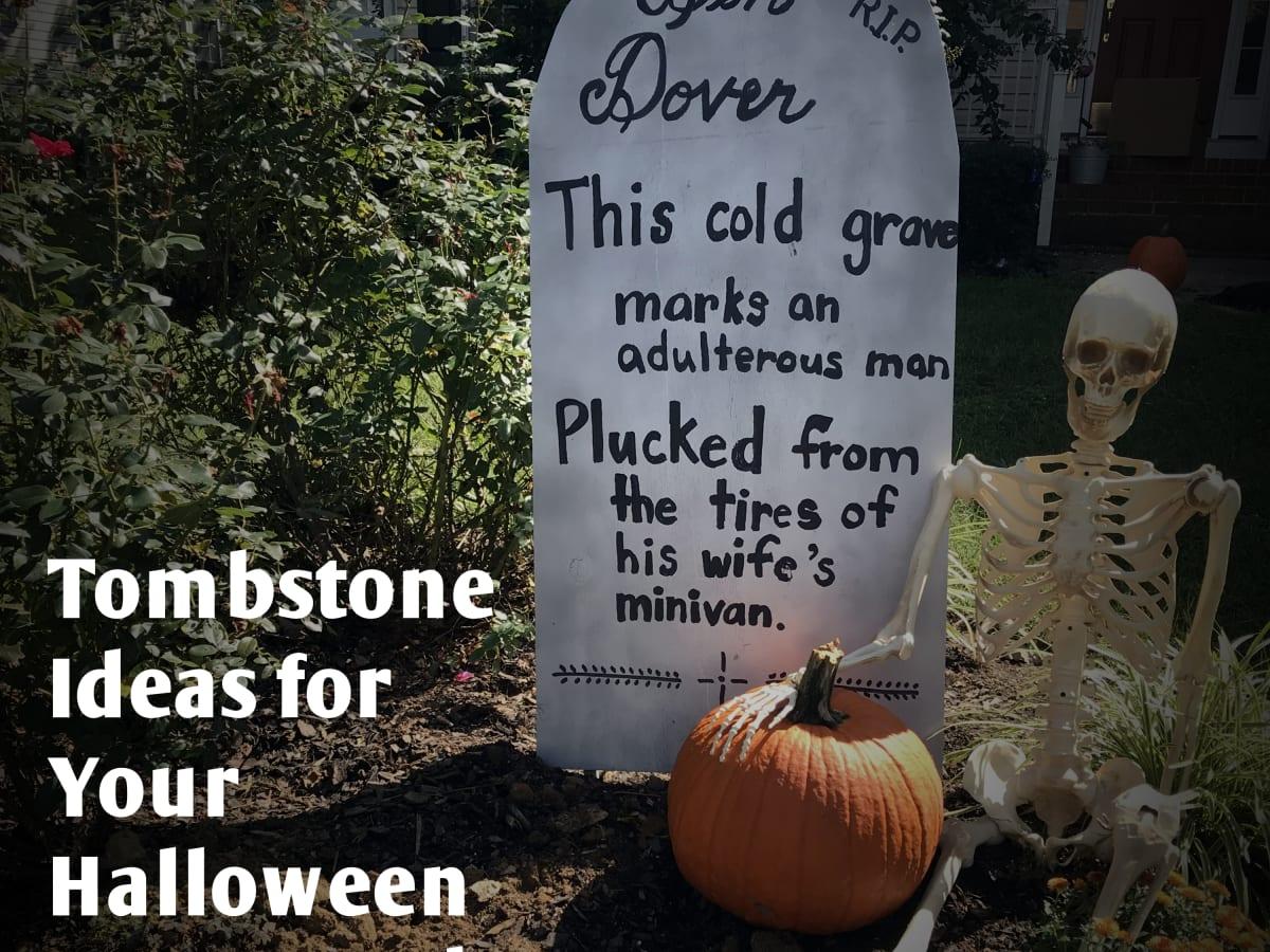 Tombstone Ideas For Your Halloween Graveyard Feltmagnet