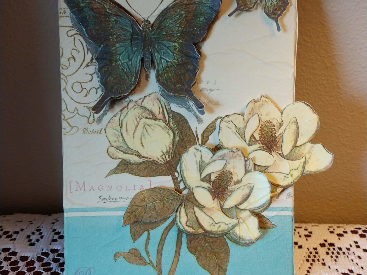 An Illustrated Tutorial For Napkin Decoupage Hubpages