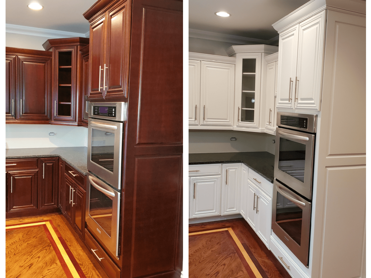 Tips For Painting Cherry Cabinets White Dengarden