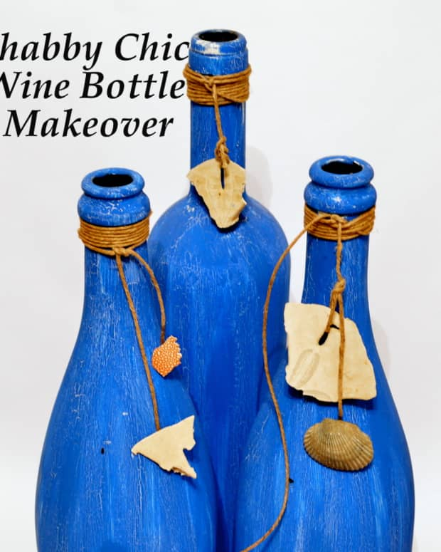 diy-inexpensive-home-decor-how-to-make-decorations-with-wine-bottles-crackle-paint-and-sea-shells