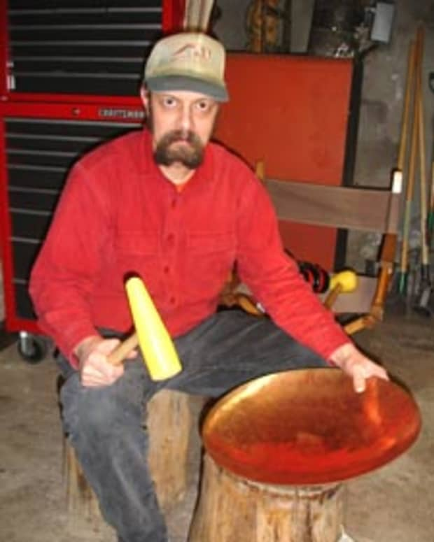 forming-shallow-metal-bowls-from-sheet-metal-by-hand