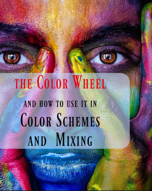 The color wheel and how to use it in color schemes and mixing.