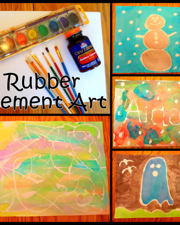 rubber-cement-art-ideas-for-kids