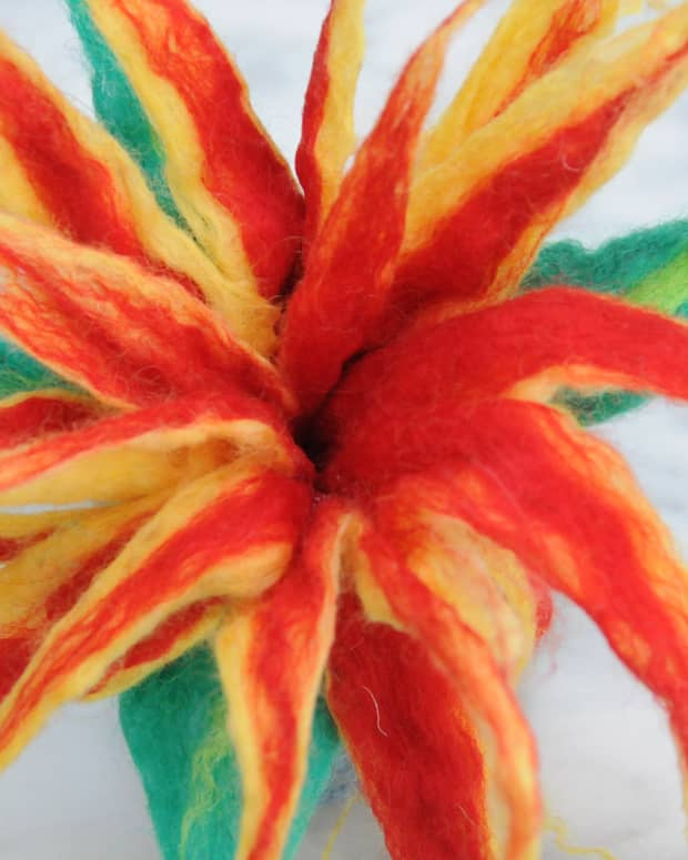 how-to-make-a-3d-flower-using-wet-felting-techniques-a-video-tutorial