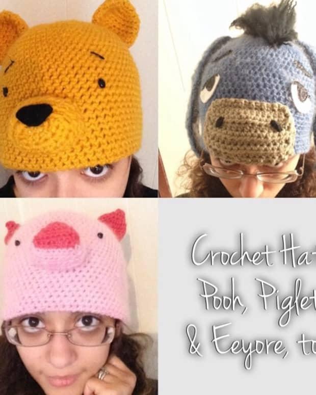 crochet-hat-patterns-winnie-the-pooh-piglet-and-eeyore