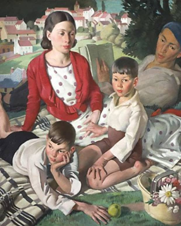 """Fleetwood-Walker Painting """"The Family"""" 1932"""