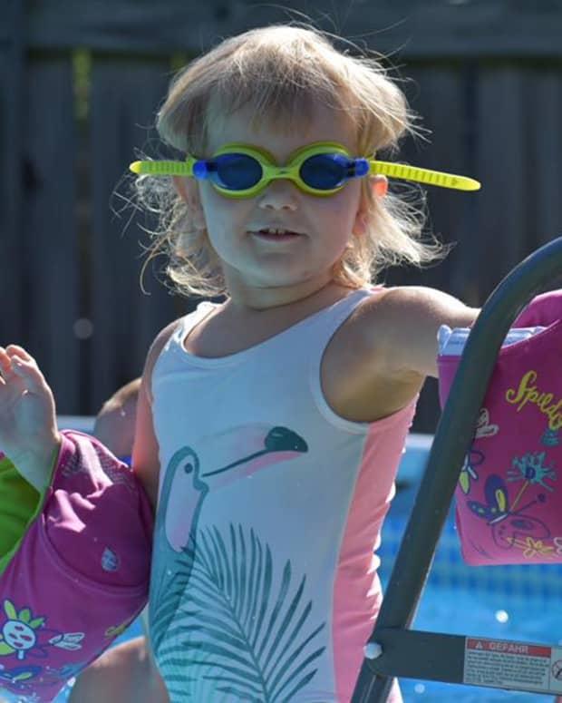 Ruby in pool