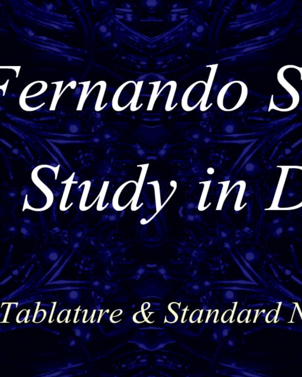 fernando-sor-study-in-d-classical-guitar-arrangement-in-standard-notation-and-guitar-tab