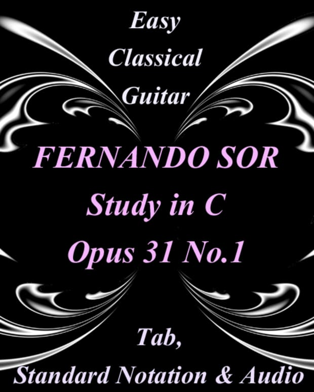 easy-classical-guitar-fernando-sor-study-no1-in-c-tab-and-notation-with-audio