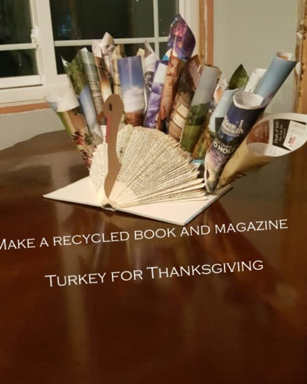 how-to-make-a-recycled-book-and-magazine-turkey-centerpiece-for-thanksgiving