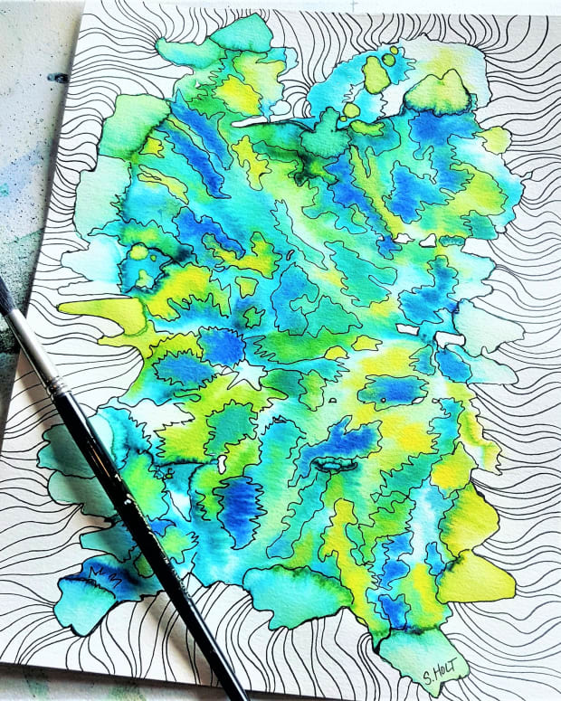 creating-art-from-my-leftover-watercolor-paint