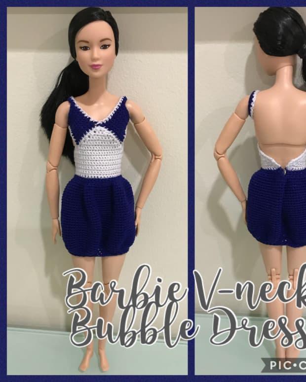 barbie-v-neck-bubble-dress-free-crochet-pattern