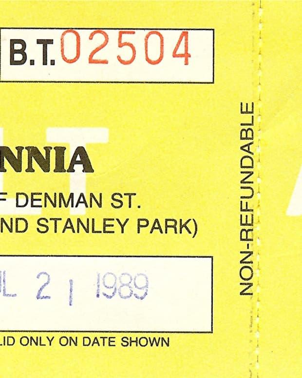 Ticket stub * Photo by Peggy W
