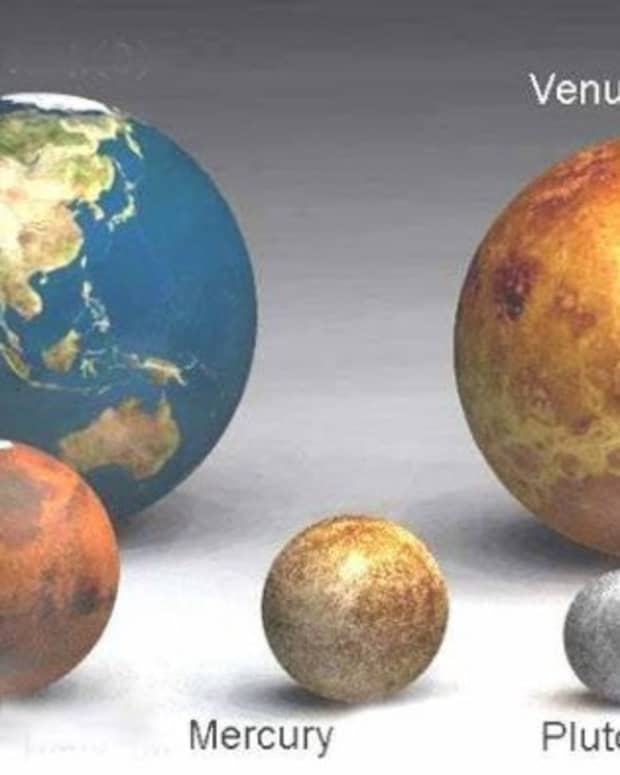 Here are the inner planets, the small rocky bodies cloe to the sun and Earth looks pretty big here. Our  neighbour is almost our size, but we are the biggest of the bunch.