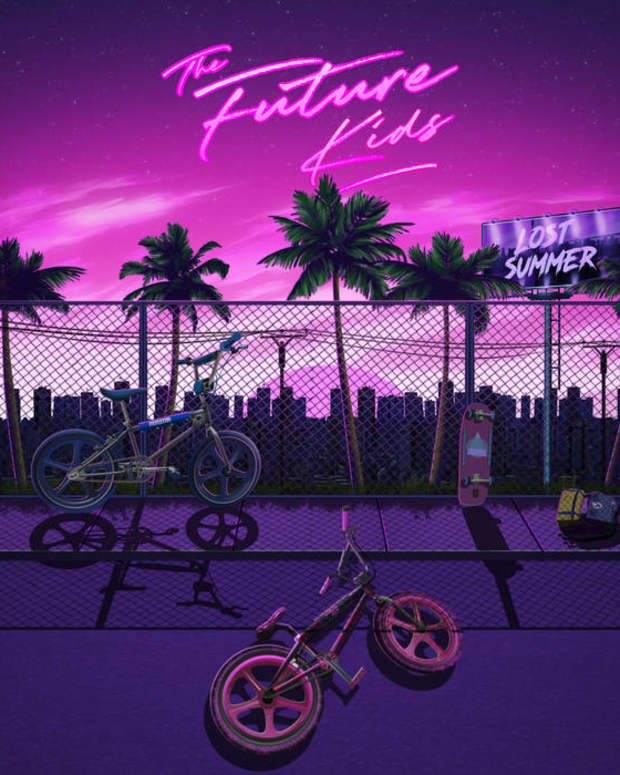 synthwave-album-review-lost-summer-by-the-future-kids