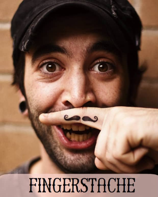 fingermustachefingerstachtattoodesigns