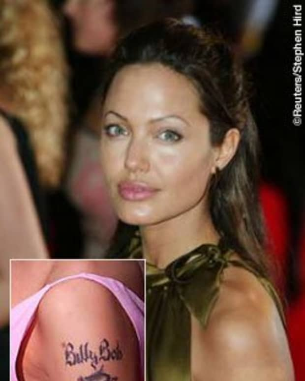 "Angelina's ""Billy Bob"" tattoo dissolved almost as quickly as their marriage"