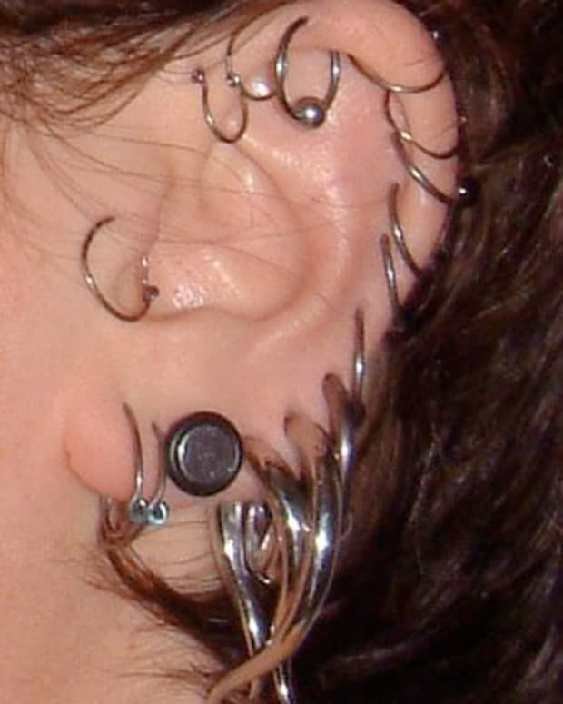 Steel ear plugs and spirals