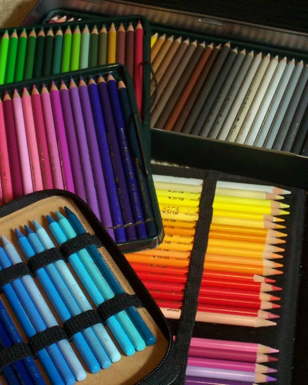 Some colored pencils sets