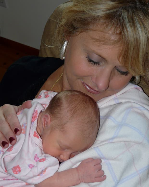 This is Lilly... one of my sweet grand-daughters, on her 5th day of life!