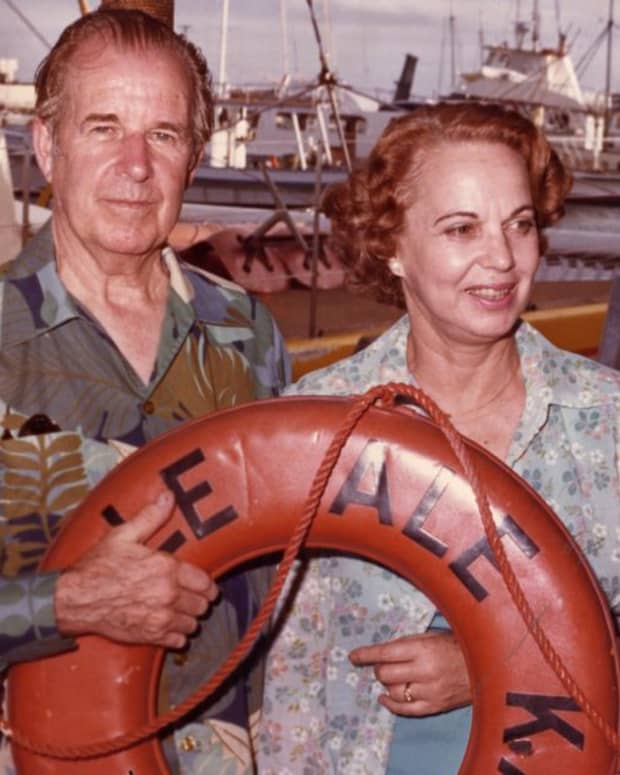 Cecil and Lucile in Kauai, Hawaii 1978