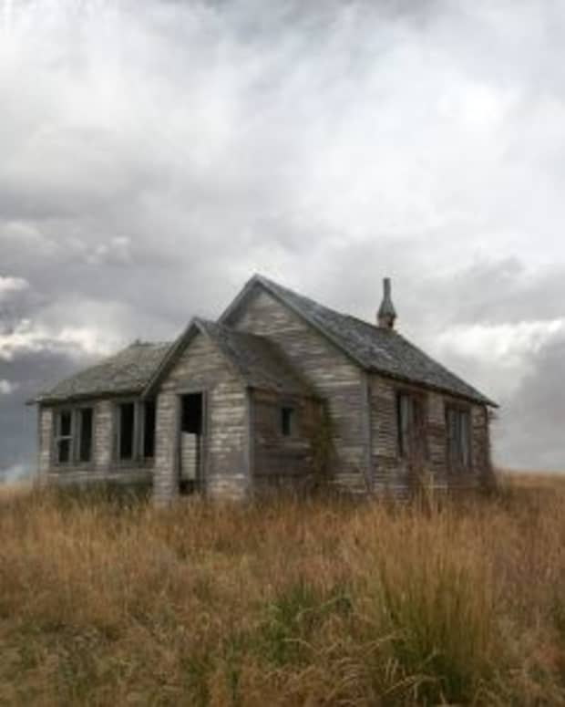 Ghosts once lived in run-down haunted houses like these.  Photo by Night Fate