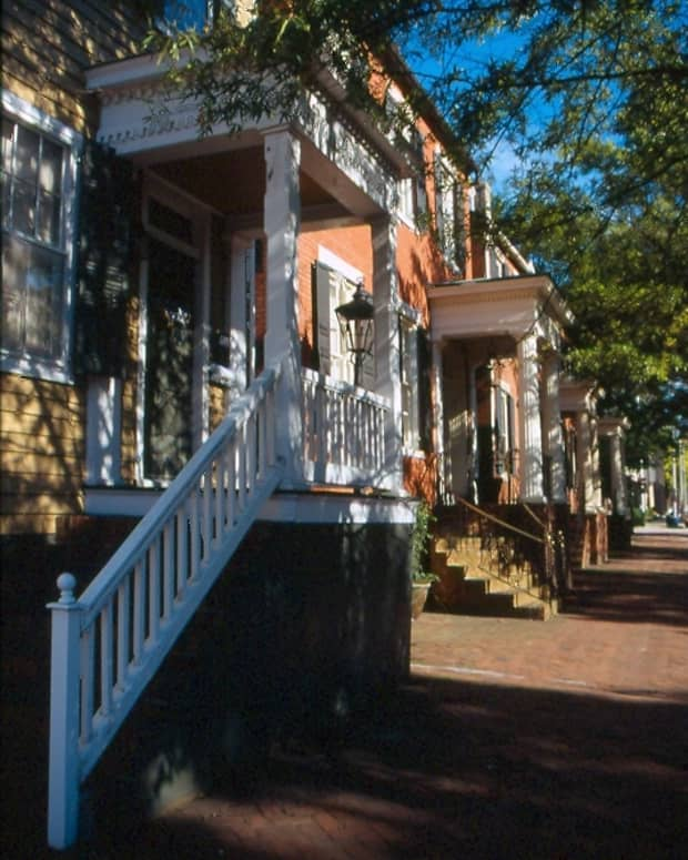 Houses in Old Towne Portsmouth, Virginia.
