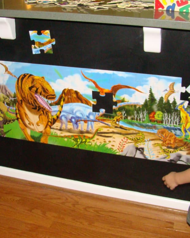Magnetic Floor Puzzles can make beautiful wall art!