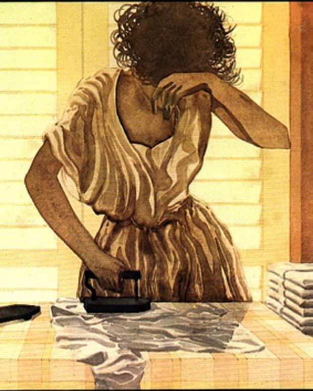 Ironing Lady.  Image by jcoccarelli