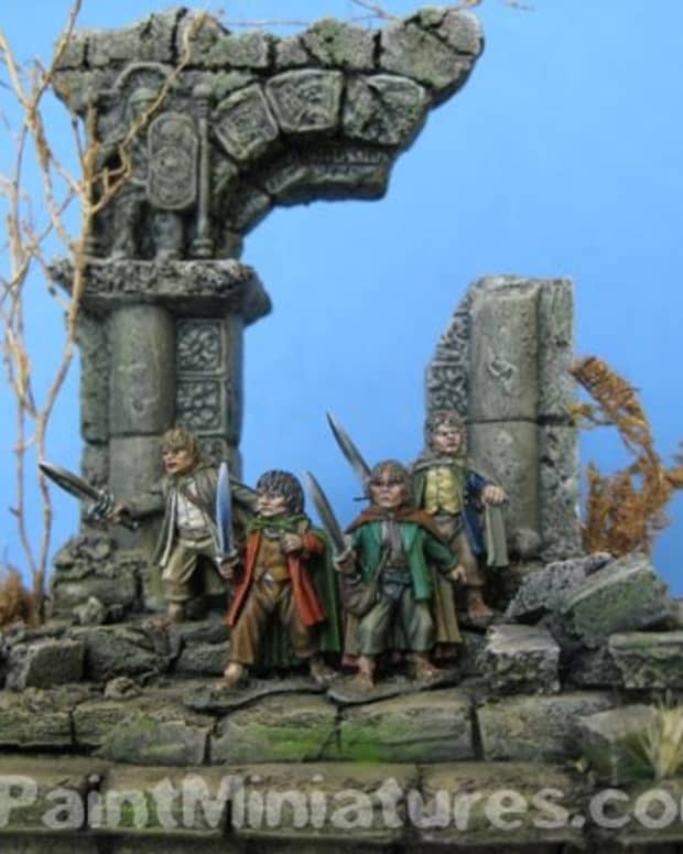 Painting realistic stonework will enhance and make the diorama look more believable.