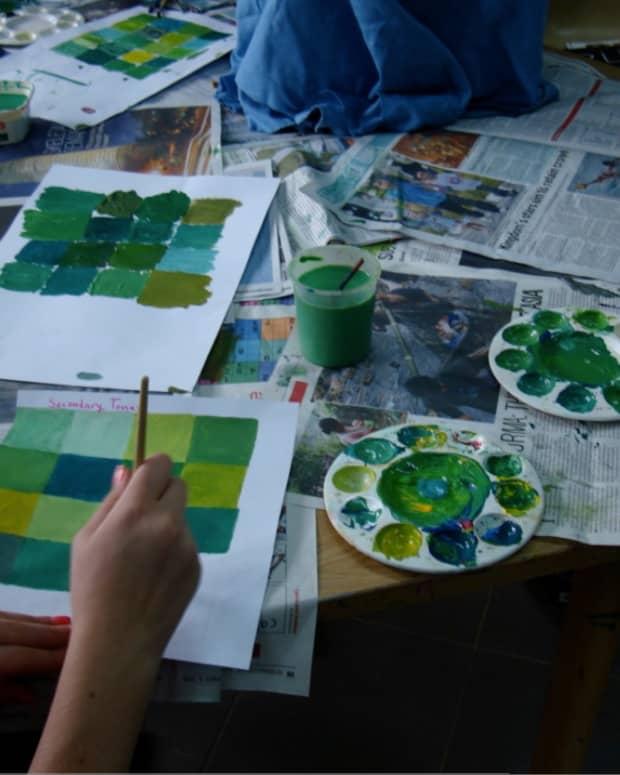 Creating many shades of green