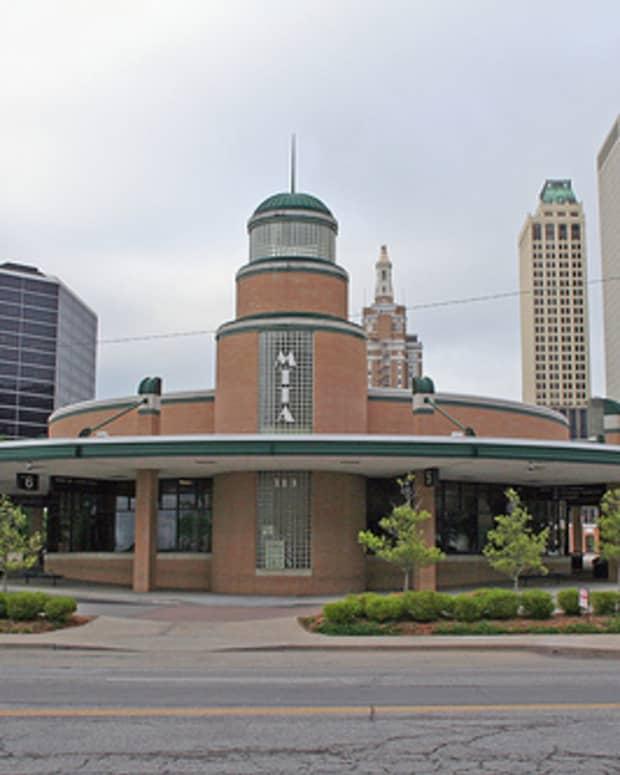 Downtown Tulsa City Bus Terminal - Streamline Moderne Art Deco Style architecture