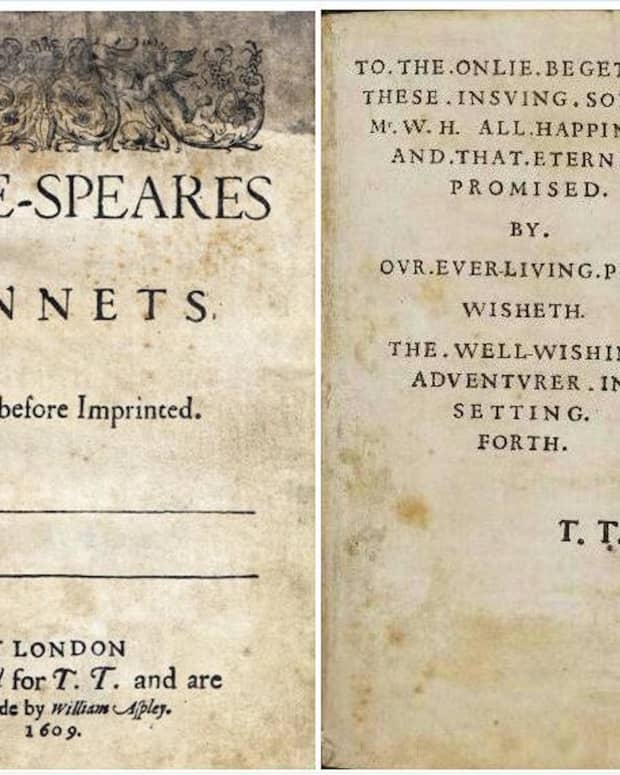 First Edition of Shakespeare Sonnets