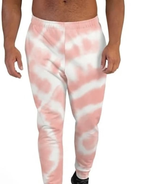 Pink tie-dye unisex joggers from Jack Spades athleisure