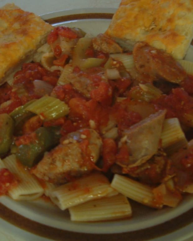 recipe-pasta-and-sausage-hot-and-spicy-meal