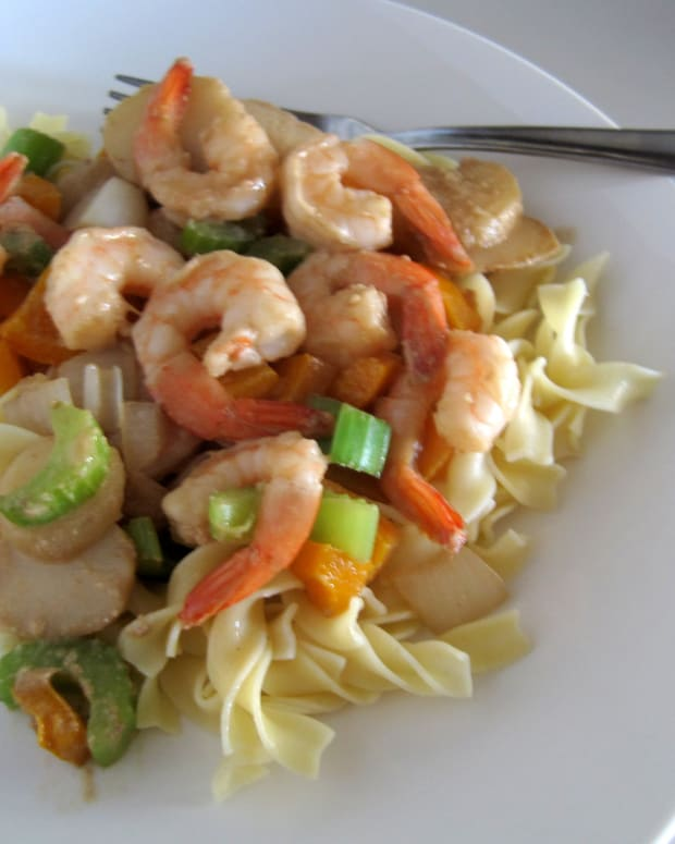 easy-healthy-shrimp-stir-fry-sesame-tahini-sauce-dressing-recipe