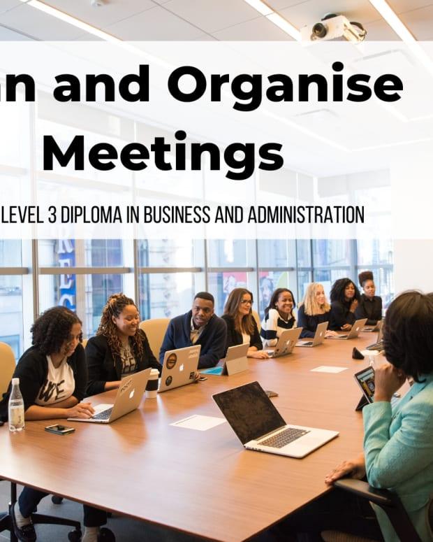 计划和组织 - 会议 -  NVQ-Level-3-Diploma-In-Endust-Andivert