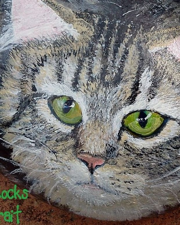 how-to-paint-stones-cat-portrait