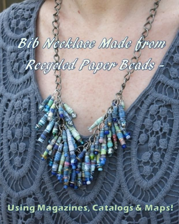 diy-jewelry-craft-how-to-make-a-bib-necklace-using-recycled-beads-made-from-magazines-catalogs-and-maps