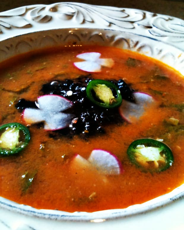 lime-soup-with-radish-greens-and-black-rice