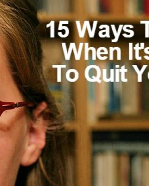 15多种方式 - 谈论其时 - 辞职 - 您的工作