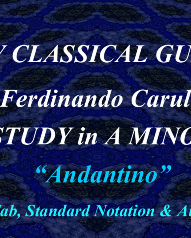 easy-classical-guitar-carulli-etude-in-a-minor-in-standard-notation-and-guitar-tablature-with-audio