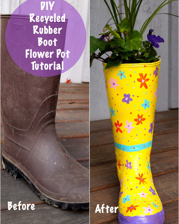 how-to-make-a-flower-pot-out-of-an-old-rubber-boot