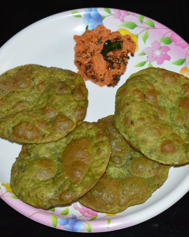 how-to-make-spinach-puripalak-puri