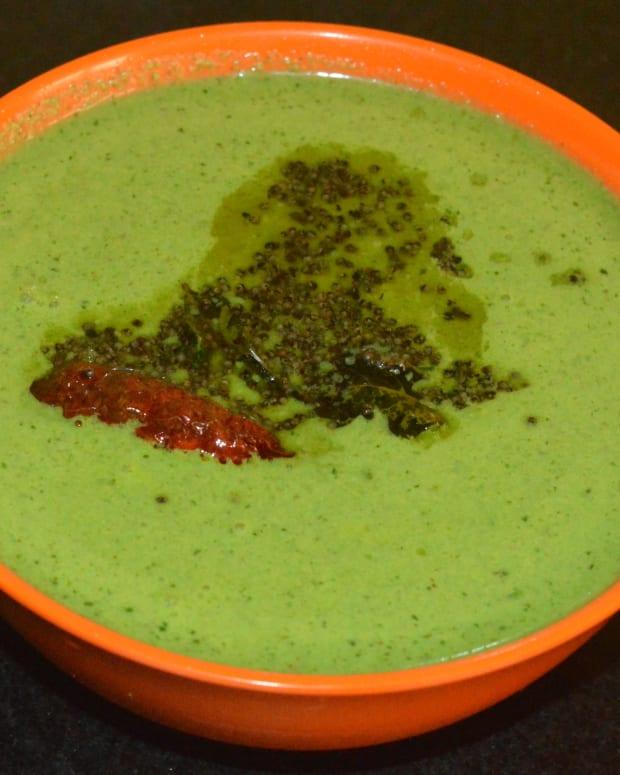 making-fenugreek-leaf-cold-soup-tambuli