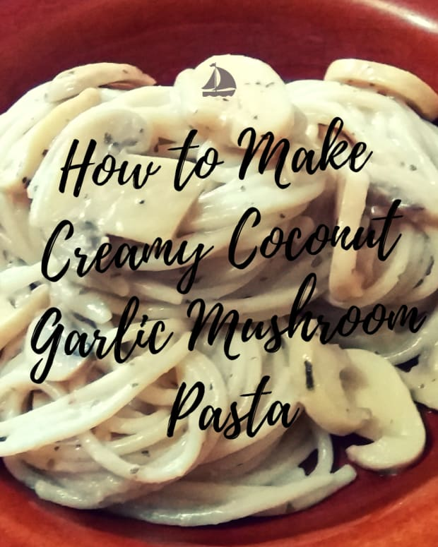 how-to-make-creamy-coconut-garlic-mushroom-pasta