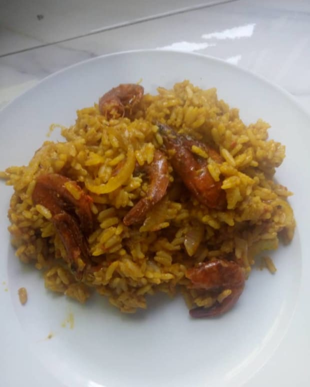 how-to-cook-palm-oil-rice-and-dried-prawns