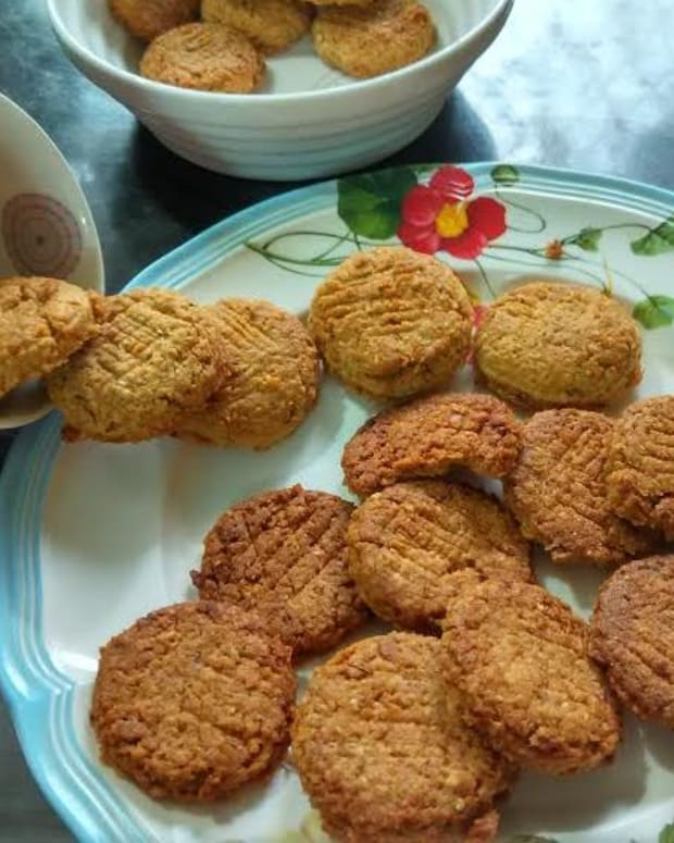 eggless-crunchy-oatmeal-coconut-cookies