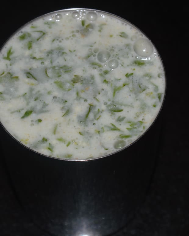healthy-beverages-ginger-garlic-buttermilk-drink