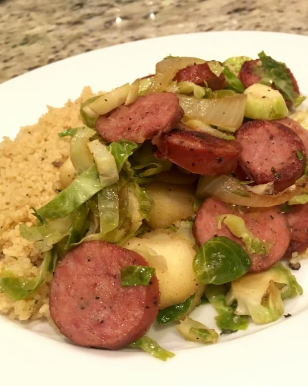 sausage-with-brussel-sprouts